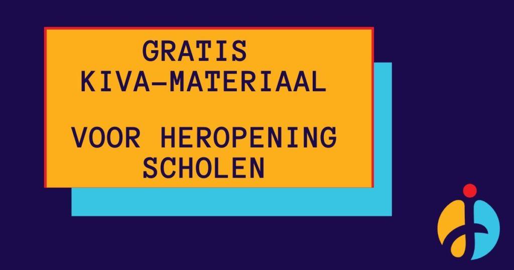 Speciaal voor de herstart van de scholen is er gratis KiVa-materiaal ontwikkeld, om wetenschappelijk onderbouwd te werken aan de groepsvorming in de klas.