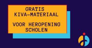 KiVa heeft speciaal voor de herstart van de scholen materiaal ontwikkeld, om wetenschappelijk onderbouwd te werken aan de groepsvorming in de klas.